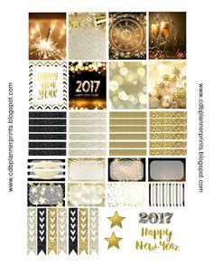 FREE CDB Planner Prints: Gold New Years