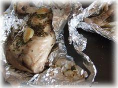 Très parfumées ses cuisses de poulet à l'ail fondant ... un pur délice pour une recette très légère Vous serez surpris de la saveur de ces cuisses de poulet cuit sans matière grasse. 2 personnes 2 cuisses de poulet 2 gousses d'ail Sel, poivre, herbe de...
