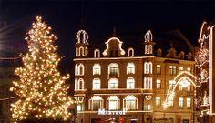 Weihnächtliche Beleuchtung in Basel