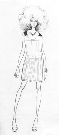 Fashion Illustration by Bijou Karman