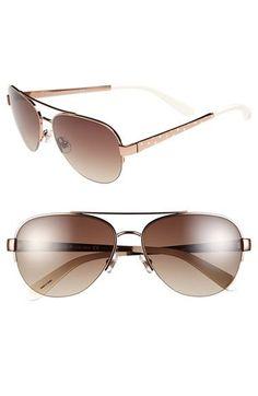 kate spade new york 57mm aviator sunglasses | Nordstrom