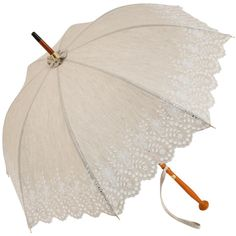 858803c63 Amélie UVP Beige Embroidery Anglaise Parasol by Pierre Vaux - Brolliesgalore  Uv Umbrella, Under My