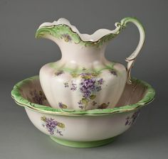 pitcher and basin set | focus of miniature pitcher s water basin and more pitcher