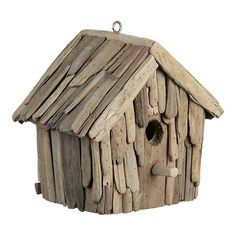 Driftwood Birdhouse by crateandbarrel #Birdhouse #crateandbarrel