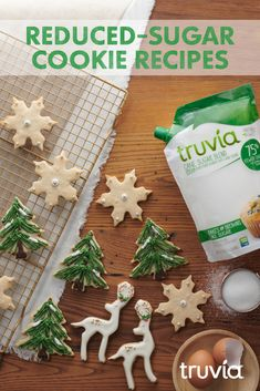 Be the ⭐ with Almond Butter Blossoms made with Truvia Brown Sugar Blend. They have less sugar than the full-sugar recipe. Sugar Free Cookies, Sugar Free Desserts, Sugar Free Recipes, Sugar Cookies Recipe, Cookie Desserts, Cookie Recipes, Iced Cookies, Healthy Desserts, Christmas Sweets