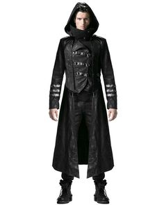 Punk Rave Scorpion Mens Coat Long Jacket Black Gothic Steampunk Hooded Trench in Clothes, Shoes & Accessories,Men's Clothing,Coats & Jackets | eBay