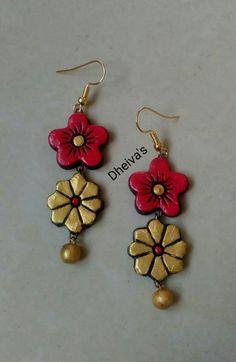 Funky Jewelry Clay Handmade Terracotta Earrings Terracota Jewellery Ear