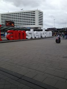 I Amsterdam sign at Schiphol airport