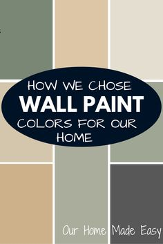 How we found a simpler way to develop a cohesive look for our entire home! It was super easy and you be confident in your wall colors, too. See how we did it!
