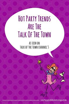 "Marley Majcher, CEO of The Party Goddess & party planner shares her Talk of the Town Channel 5 TV segment ""Hot Party Trends Are The Talk Of The Town"". Event Planning Tips, Party Planning, Party Tops, Host A Party, Make More Money, Corporate Events, Holiday Parties, Diy For Kids, Place Cards"