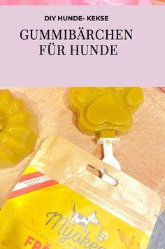 Zauber selbstgemachte Gummibärchen für deinen Hund. So einfach geht's. Icing, Desserts, Food, Homemade, Simple, Tailgate Desserts, Deserts, Essen, Postres