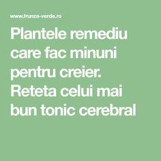 Plantele remediu care fac minuni pentru creier. Reteta celui mai bun tonic cerebral Health And Wellness, Health Fitness, Good To Know, Metabolism, Natural Remedies, Math Equations, Healthy, Decor, Therapy