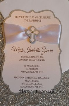 Baptism Invitations First communion Christening by HappyToons