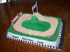 Dirt Bike Race Track Cake By Boshellbug On Cake Central