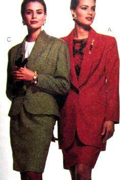 Nancy Zieman Jacket Straight Skirt Pattern Size 12 McCalls 6132