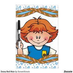 Daisy Red Hair Dry-Erase Boards