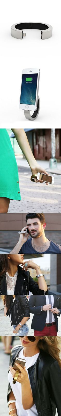 Looks nice! The QBracelet is a jewelry piece designed for both men and women and doubles up as a charger for Smartphones and other compatible devices.