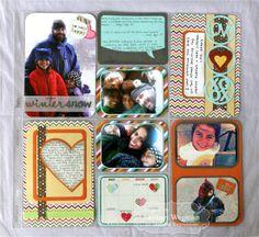 Part of My Heart 12x12 Scrapbook Page by Sankari Wegman #PocketandPages, #Scrapbooking