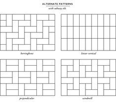 Metro Tile Designs subway tile pattern guide: offset 1/3 | tile design | pinterest