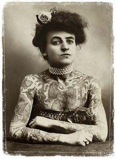 vintage tattoo lady