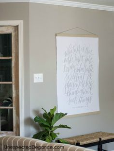 Ever need a large piece of artwork to fill a space? Check out this easy DIY LARGE wall art tutorial to find out how to make your own! Iron Wall Decor, 3d Wall Decor, Unique Wall Decor, Diy Wall Art, Diy Art, Metal Tree Wall Art, Large Wall Art, Large Artwork, Diy Living Room Decor