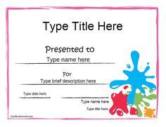 blank certificate art award certificate certificatestreetcom - Art Award Certificate Template