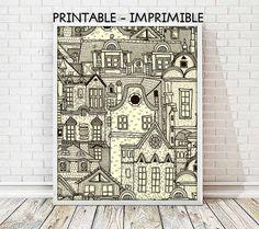 laminas decorativas, cuadros decorativos, laminas casas, casas imprimibles, laminas A4, laminas A3, laminas imprimibles, ilustracion digital