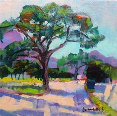 "Daily Paintworks - ""Umbrella pine"" - Original Fine Art for Sale - © salvatore greco"