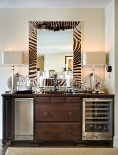 Love! I would conceal the appliances behind doors, great for the Master suite!