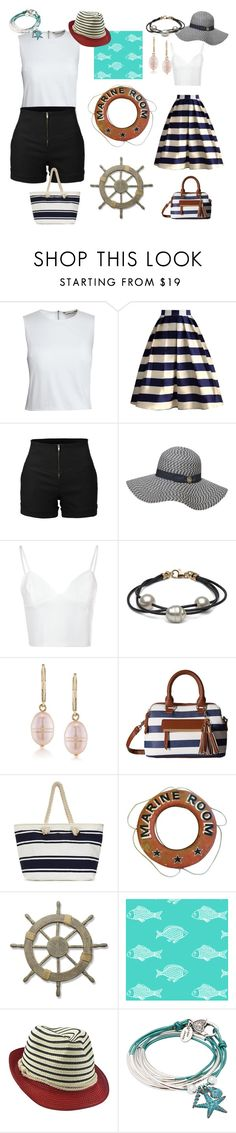 """casual⛵vs formal"" by ivelletjei ❤ liked on Polyvore featuring Canvas by Lands' End, Chicwish, LE3NO, Dorothy Perkins, Glamorous, Carolee, Gabriella Rocha, Adeco, Lizzy James and stripedshirt"