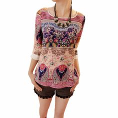 여름 가을 여성 한국어 우아한 꽃 분기 퍼프 소매 셔츠 꽃 탑 소녀 캐주얼 슬림 블라우스 크기 S-XXL