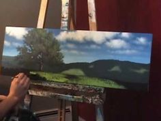 """Landscape Painting """"Tips and Tricks"""" by Tim Gagnon - Painting Grass with a Fan Brush - YouTube"""