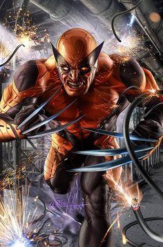 "Wolverine for ""Death of Wolverine #1"" variant by Greg Horn #SNIKT"