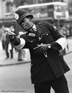 Londons first black police officer PC Norwell Roberts on point duty near Charing Cross Station 1968. http://pic.twitter.com/85uStEtc8E   Lost In History (@HistoryToLearn) October 9 2017