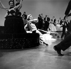 Not published in LIFE. Marilyn Monroe on the set of 1953's Gentlemen Prefer Blondes.