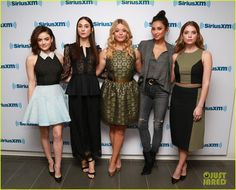 The 'Pretty Little Liars' Cast Takes New York City By Storm for Promo!: Photo #914049. Lucy Hale, Troian Bellisario, Sasha Pieterse, Shay Mitchell, and Ashley Benson get together for a big photo opp while stopping by the Sirius XM studios on Monday…
