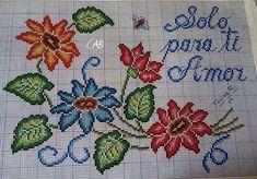 Cross Stitch Borders, Cross Stitch Animals, Cross Stitch Flowers, Cross Stitch Patterns, Cross Stitch Embroidery, Hand Embroidery, Embroidery Techniques, Needlework, Diy And Crafts