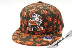 REEBOK Cleveland Browns NFL Fitted Cap Brown NEW #Reebok #BallCap