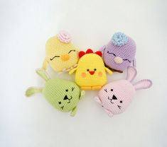 Easter Bird, Bunny and Chicken - Amigurumipatterns.net