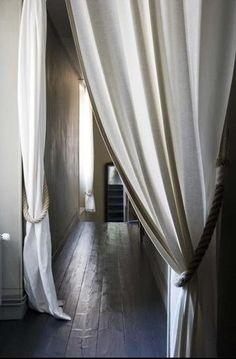 Walls, Windows & Floors: Rope Curtain Tiebacks from Stonk Knots ...