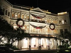 Raffles Hotel.  Singapore Slings and Cuban cigars late in the evening.