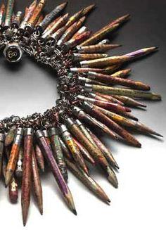 Venus Soberanes - Found Object Jewelry: The tribal art of Susan Lenart Kazmer Jewelry Crafts, Jewelry Art, Jewelry Bracelets, Jewelry Design, Jewellery, Jewelry Ideas, Found Object Jewelry, Found Object Art, Recycled Jewelry