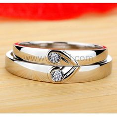 Ct Diamond Engagement Bands for Couples Platinum Plated Silver Couple Rings Gold, Engagement Rings Couple, Designer Engagement Rings, Solitaire Engagement, Silver Wedding Bands, Diamond Wedding Bands, Best Wedding Rings, Wedding Ring With Name, Silver Bands