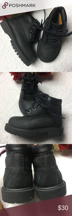 Timberlands black suede Sz 5 Like new condition! Worn twice!! Sole is close to perfect! Waterproof Timberland Shoes Boots