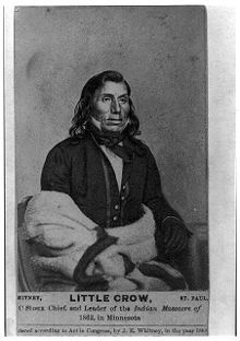 Little Crow - Chief of the Dakota Sioux who killed Andrew Myrick for refusing to open food storehouses to feed his starving tribe. Myrick's refusal to open food stores initiated the 1862 Dakota Sioux uprising.  Little Crow was ultimately killed in the fighting; his bones displayed by the Minnesota Historical Society until the 1970's - when US laws were enacted forcing the return of his bones to his people.