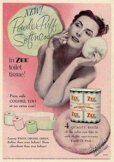 Zee Toilet Tissue Powder-puff Softness (1953)