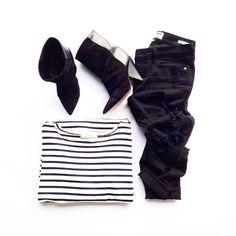 Stripes. Isabel Marant. Flat lay - Fashionably.fit