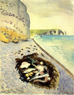 Henri Matisse (French, 1869-1954) Large Cliff with Fish 1920 Oil on canvas 36 ½ x 29 in. The Baltimore Museum of Art: The Cone Collection, formed by Dr. Claribel Cone and Miss Etta Cone of Baltimore, Maryland (1950.233)