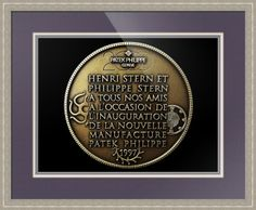 "Patek Philippe Geneve Commemorative Medal Coin // Paper: enhanced matte; Glazing: acrylic; Moulding: silver, hanaqua 2 cool silver; Top Mat: pink/purple, deep violet; Middle Mat: white/cream, chantilly; Bottom Mat: pink/purple, iris // Price starts at $140 (Petite: 21"" x 23""). // Customize at http://www.imagekind.com/Patek-Philippe-Geneve-PPG_art?IMID=052985c0-deff-40d6-9371-16068992094d"