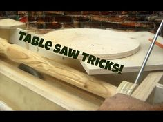 Table saw jig - wood turning tapered spiral legs on my table saw. More Table Saw… Table Saw Jigs, Tool Table, A Table, Table Saw Accessories, Creative Area, Wood Tools, Furniture Legs, Woodworking Projects, Woodworking Tools